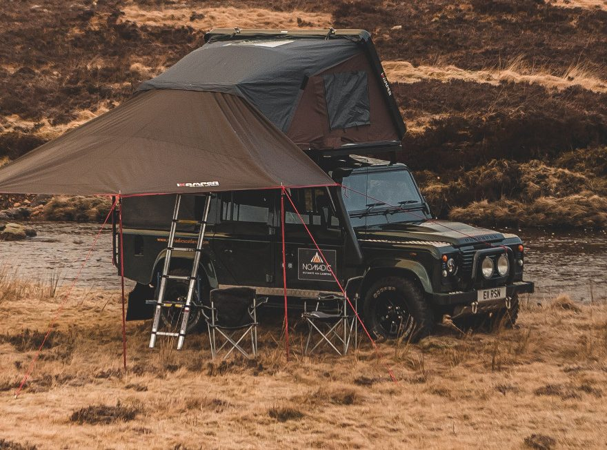 IKamper Hardshell Tent And Canopy On Land Rover Defender